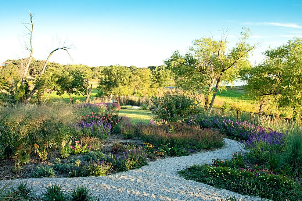 Rent1sale1   Rustic Landscape Also English Garden Garden Gravel Landscape Design Landscaping Limestone Gravel Metal Fence Native Landscape Natural Landscape Pathway Texas Landscape View Walkway Winding Path Xeriscape