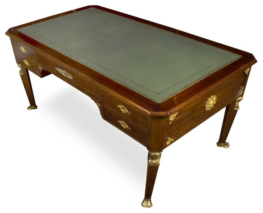 $keyword Traditional French Louis Style Vintage Reproduction Partners Desk $style In $location