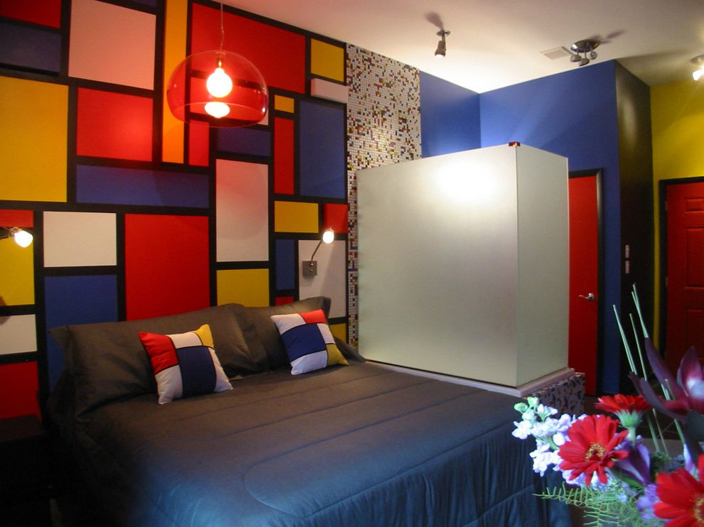Roxbury Motel   Contemporary Bedroom Also Glass Mosaics Glass Tiles Susan Jablon