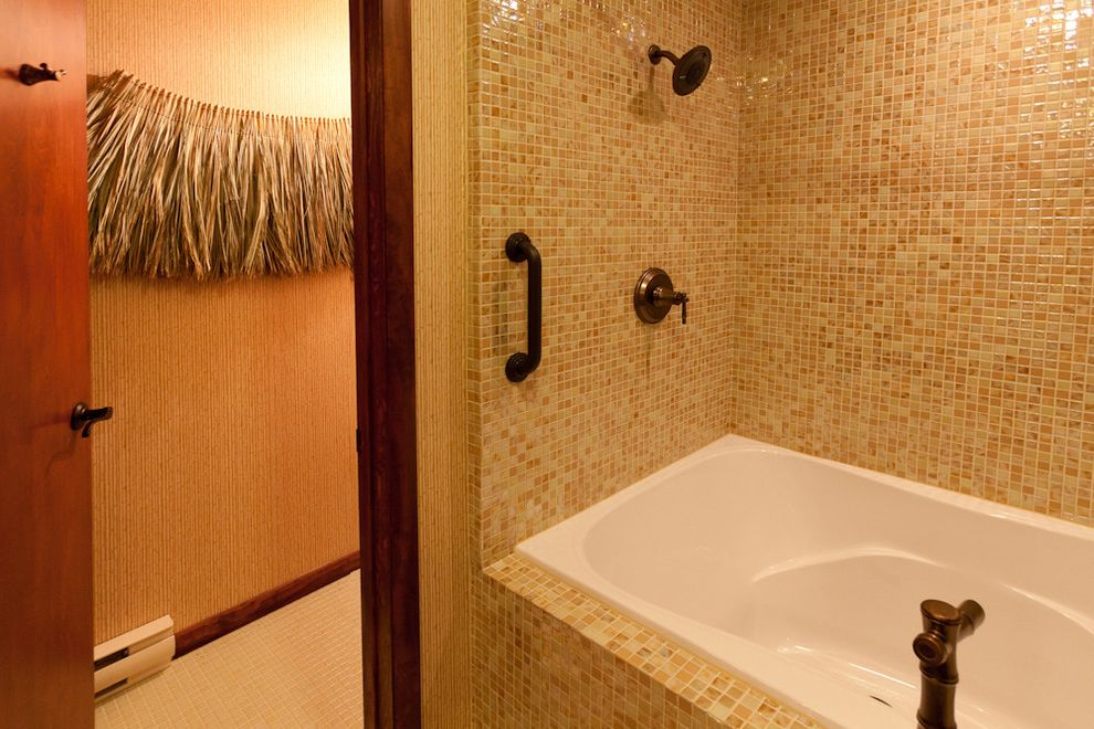 Roxbury Motel   Eclectic Bathroom Also Glass Mosaics Glass Tile Susan Jablon