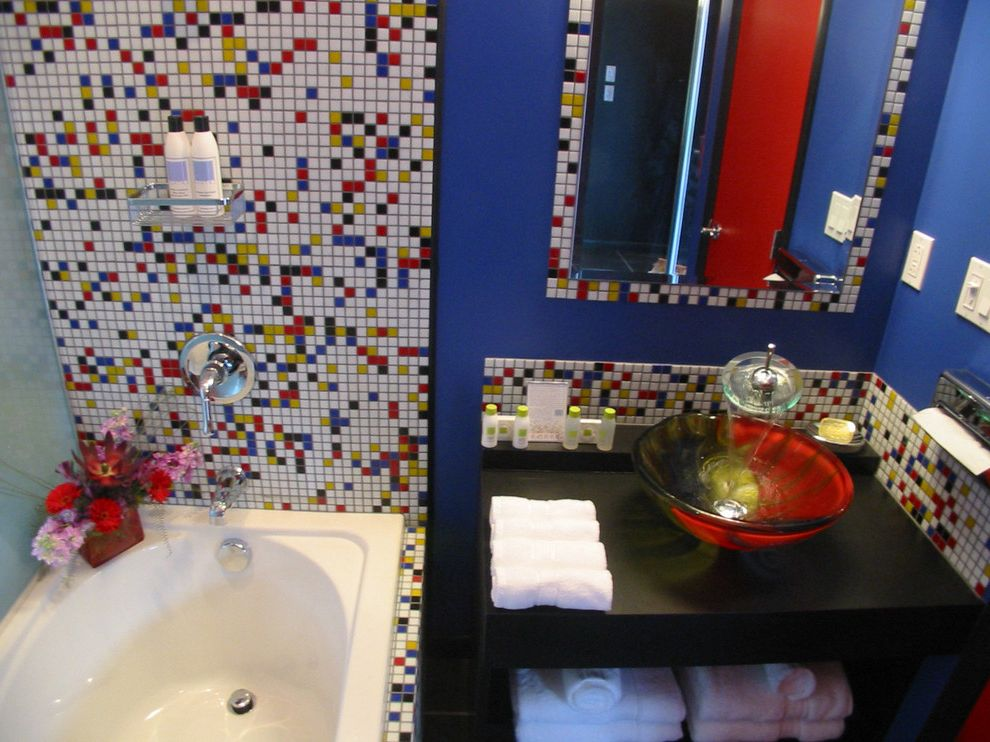 Roxbury Motel with Eclectic Bathroom  and Eclectic