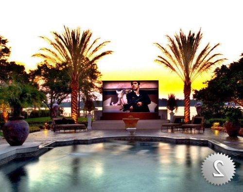 Royal Palm Theater    Home Theater  and Outdoor Home Theater