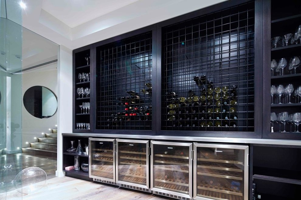 Small Wine Fridge   Contemporary Wine Cellar  and Barware Built in Shelves Built in Wine Cellar Built in Wine Rack Glass Wall Large Wine Fridge Metal Wine Rack Metal Wine Shelves Wine Fridge Wine Organization