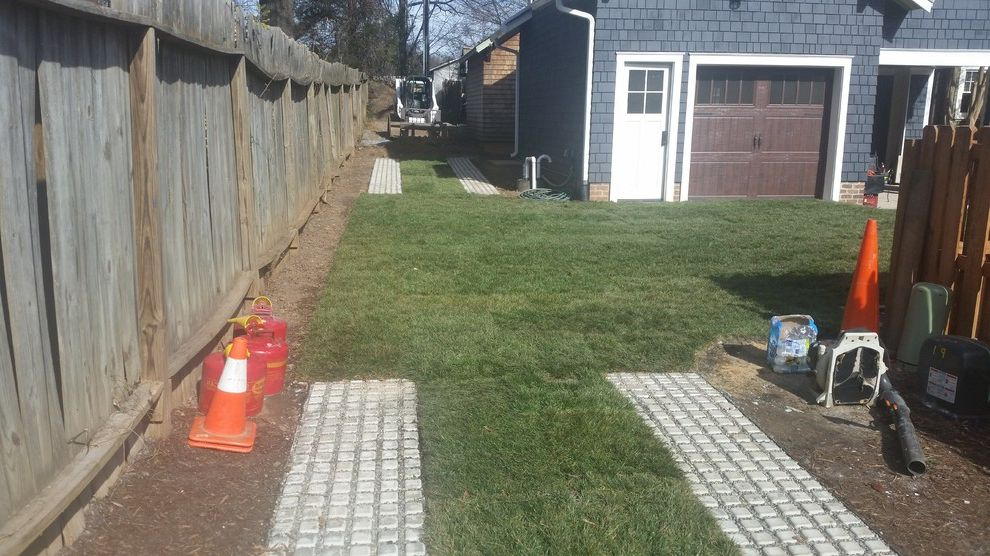 Supersod   Craftsman Landscape Also Carriage Path Driveway Concrete Driveway Drivable Grass Driveway Garage Door Pavers for Grass Pavers for Lawn Permeable Driveway Permeable Pavers