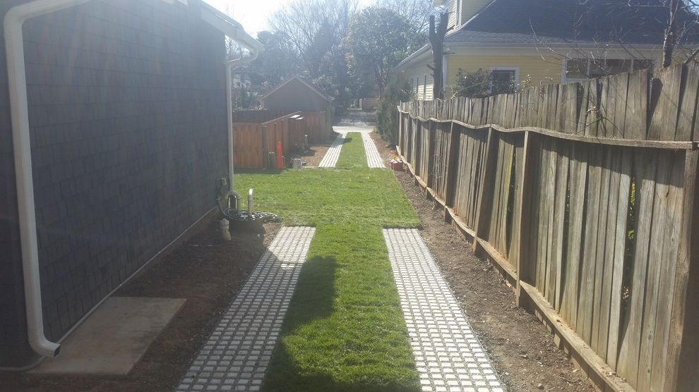 Supersod with Contemporary Landscape Also Carriage Path Driveway Concrete Driveway Drivable Grass Driveway Pavers for Grass Pavers for Lawn Permeable Driveway Permeable Pavers