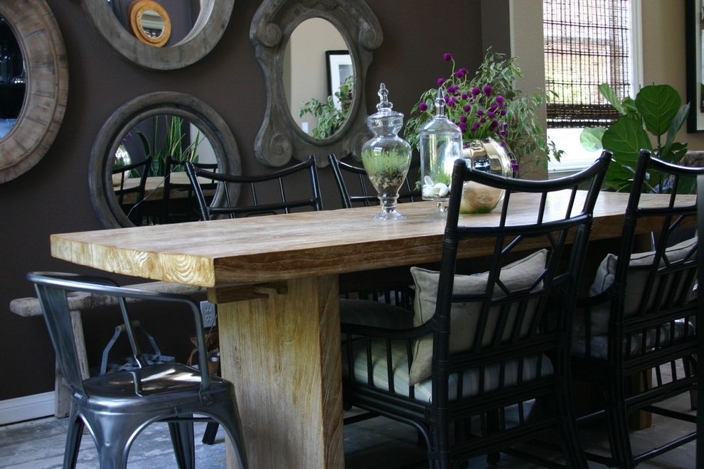 Terrarium Definition with Transitional Dining Room  and Apothecary Jars Bamboo Chair Dining Eclectic Palecek Dining Chairs Reclaimed Wood Mirrors Seat Cushion Teak Dining Table Tolix Chairs Transitional Wicker Chair Wood Dining Chair Wood Dining Table