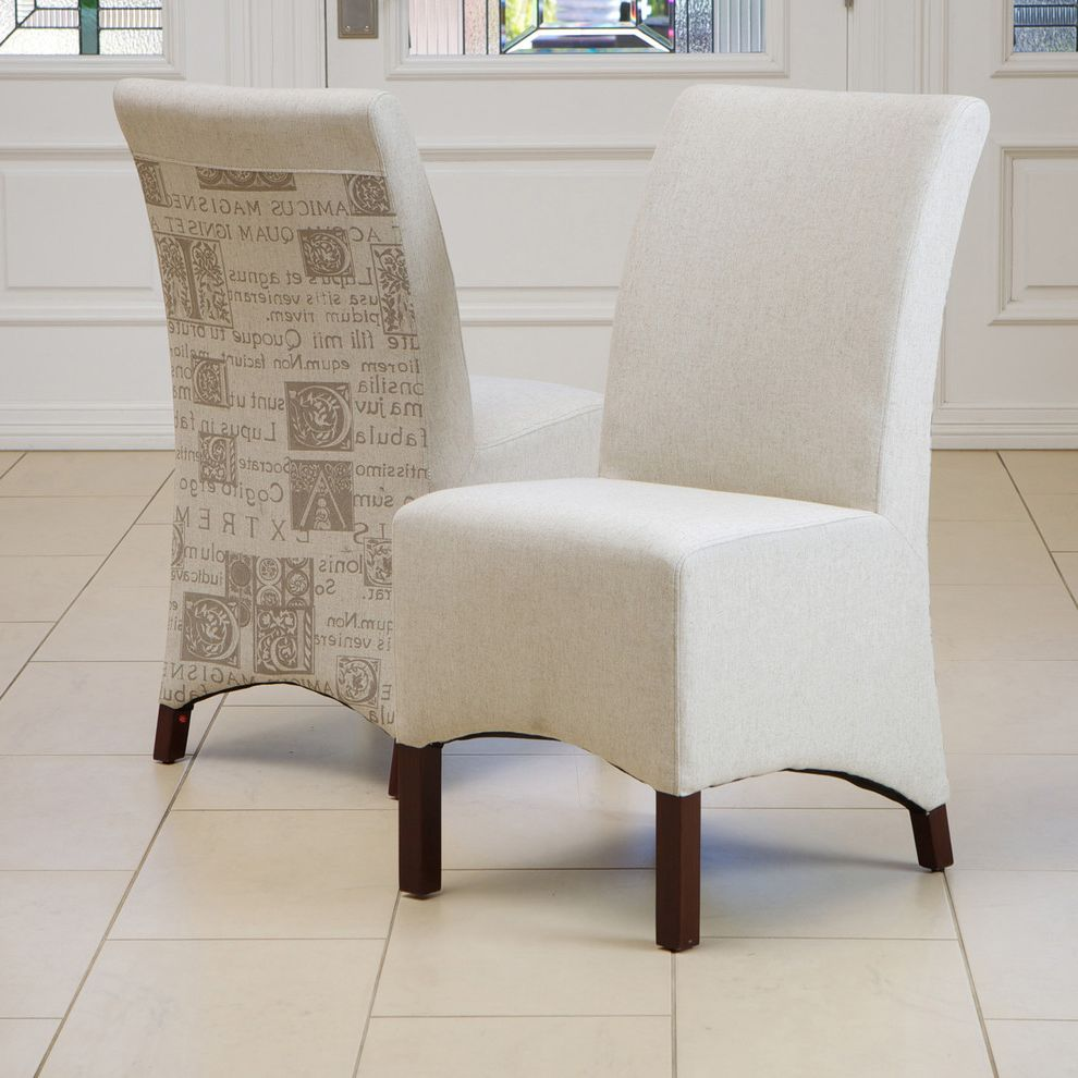 Vista Print Coupon Code with Contemporary Spaces  and Beige Dining Chair Fabric Printed