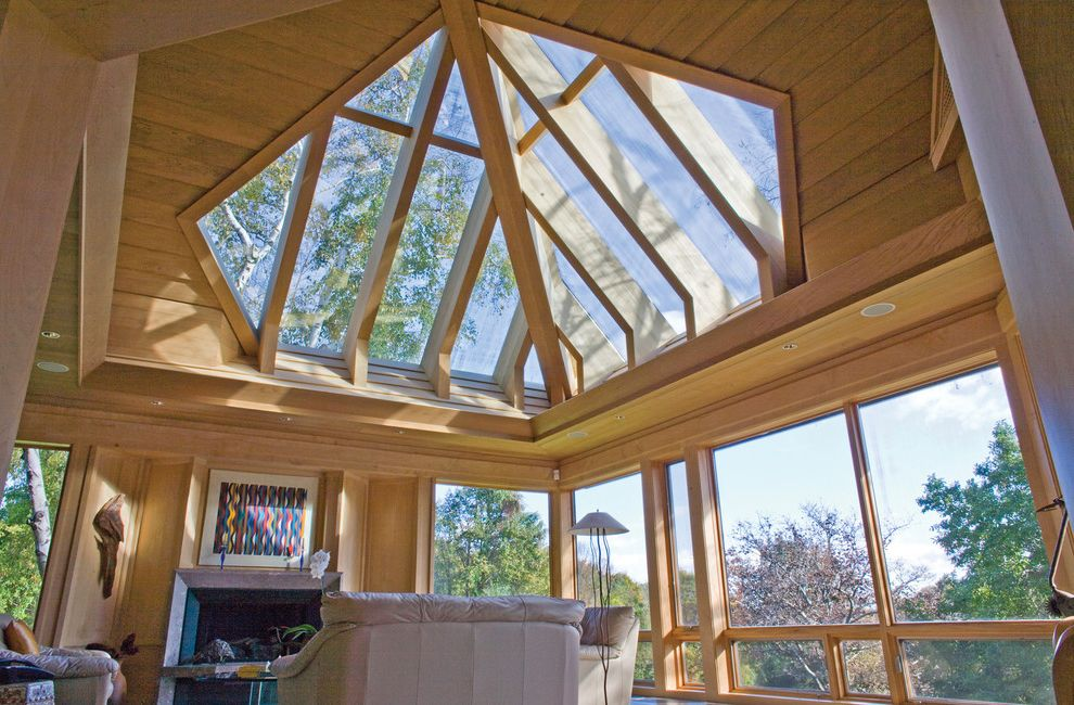 Wasco Skylights with Rustic Living Room  and Skylights Wasco
