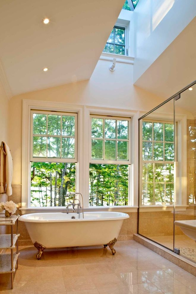Wasco Skylights with Traditional Bathroom  and Skylights