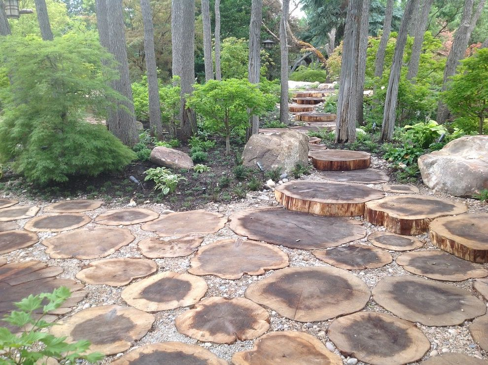 Alabama Rental Managers   Traditional Landscape Also Boulders Forest Gravel Grove Steps Stump Patio Wood Pavers Wood Rounds