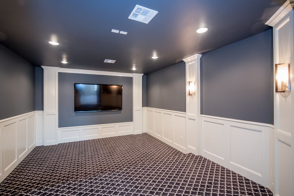 Crestwood Theatre with Transitional Home Theater Also Transitional