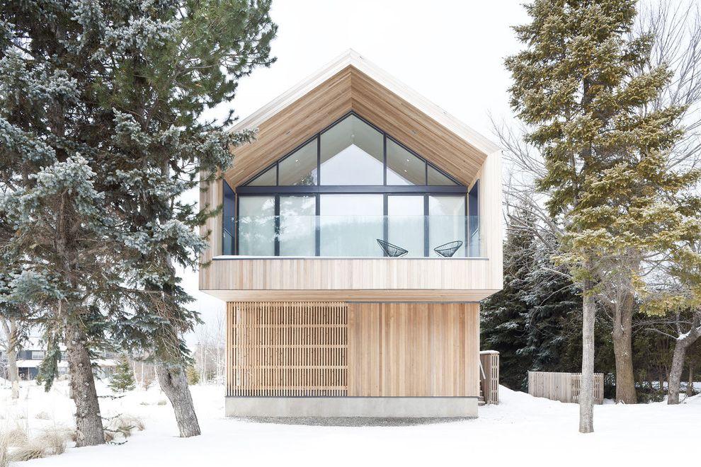 Gables Upper Kirby   Scandinavian Exterior  and Balcony Barn Cantilever Minimal Snow Winter Wood Paneling Wood Siding