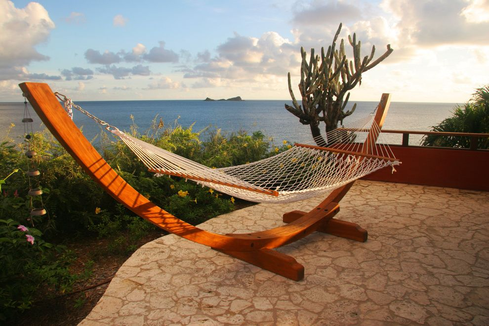 Hammocks with Stands   Tropical Patio  and Cactus Coastal Hammock Patio Furniture Patio Pavers View Waterfront