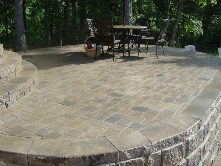 Lee Brick and Block    Patio Also Indoor Outdoor Indoor Outdoor Living Outdoor Dining Patio Seating Stainless Steel Fixtures Stone Retaining Wall