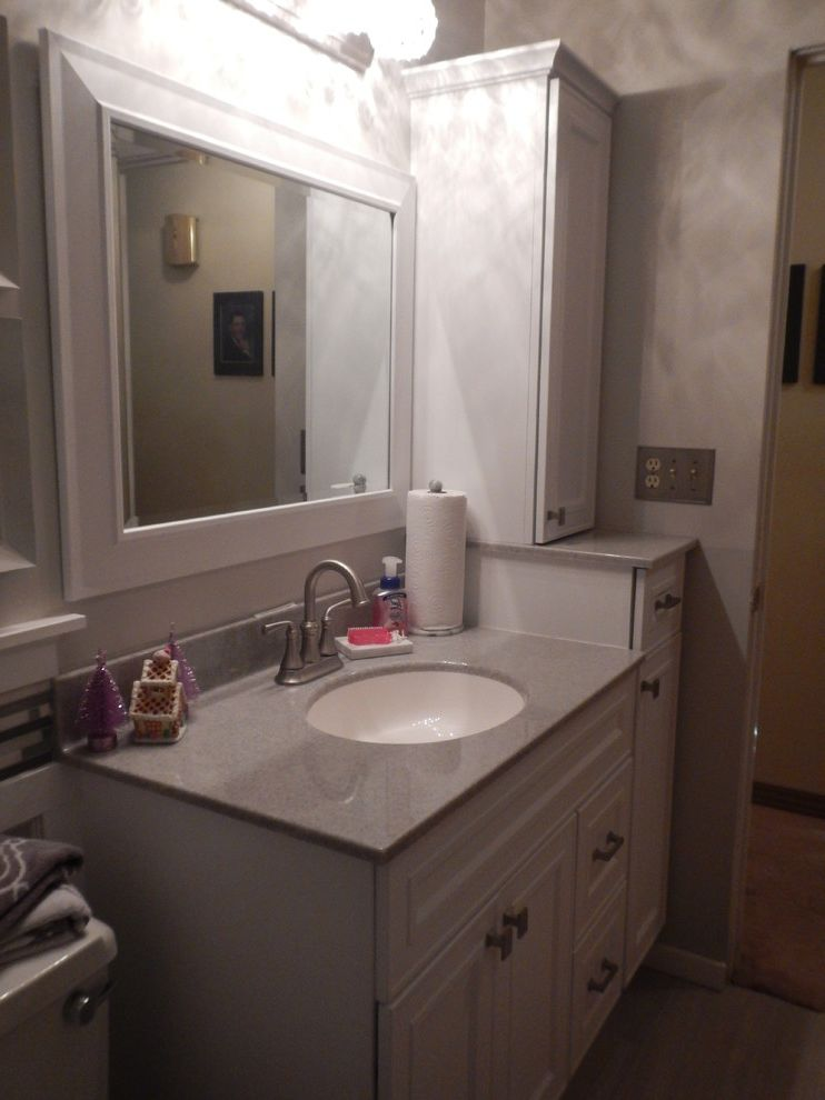 Lowes Peoria Il with Transitional Bathroom  and Corner Seat Il Leonia Silver Lowes Lowes of Peoria Mist Onyx Patti Yost