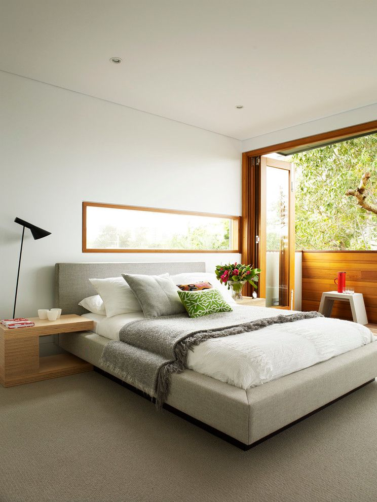 Olympic Queen Mattress   Modern Bedroom  and Bifold Door Contemporary Design Double Heighted Void and Skylight Gallery Indoor Outdoor Living Platform Bed Ribbon Window Victorian Workers Cottage Transformation Warm and Inviting Spaces