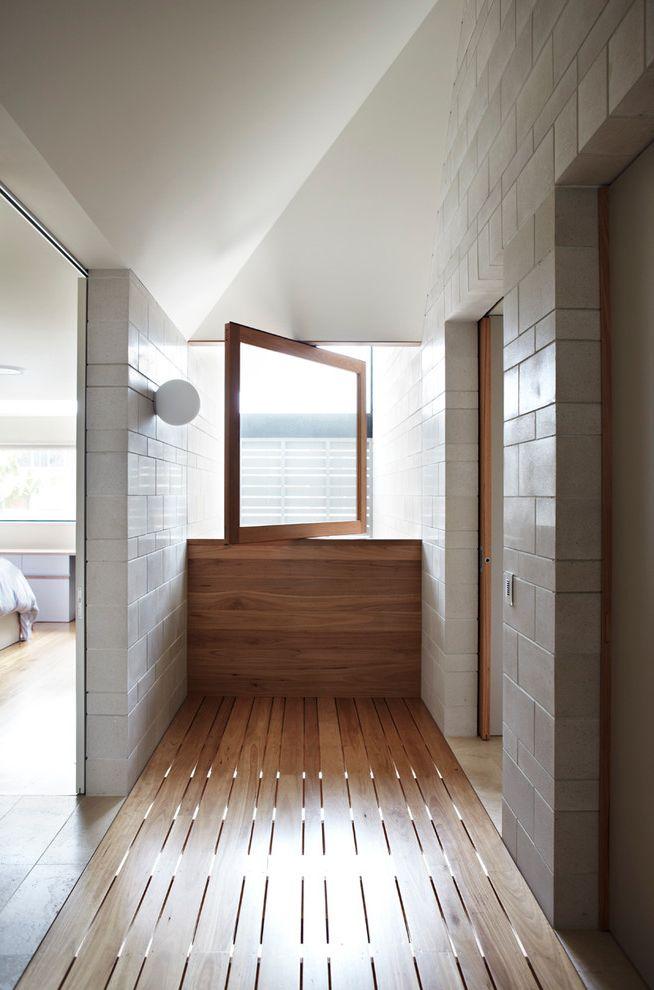 Sliding Window Air Conditioner with Contemporary Hall Also Concrete Masonry Contemporary Honed Interior Masonry Masonry Pivot Window