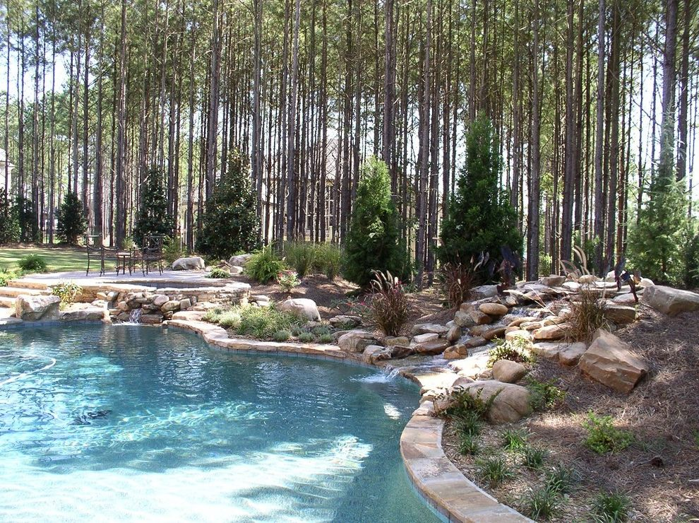 Spas in Atlanta   Craftsman Pool  and Atlanta Pool Builders Beautiful Pools Georgia Pool Builders Pool with Water Features