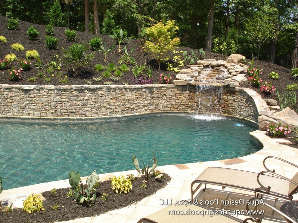Spas in Atlanta with Craftsman Spaces Also Atlanta Pool Builders Atlanta Pools Beautiful Pools Georgia Pool Builders Georgia Pools North Georgia Pool Builders North Georgia Pool Designers Pool with Waterfall Unique Pool Waterfall Waterfall Pool