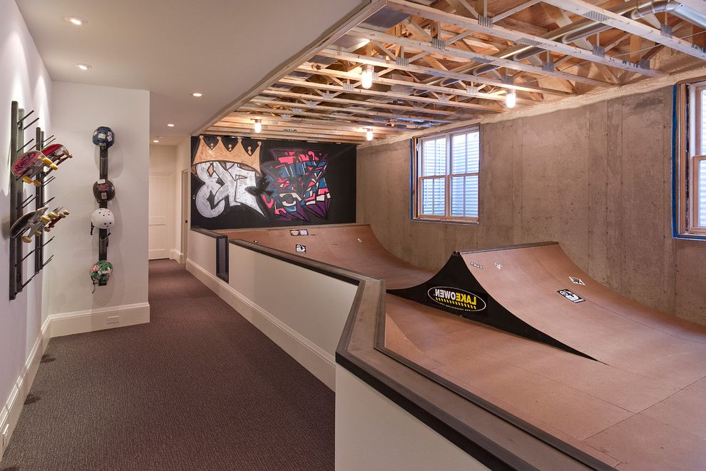 State Theater Traverse City with Transitional Basement  and Carpet Graffiti Half Pipe Ramps Skate Park Skateboard Park Skateboard Ramp Skateboarding Skateboards