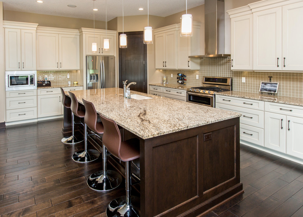 New venetian gold granite Traditional Kitchen countertop granite