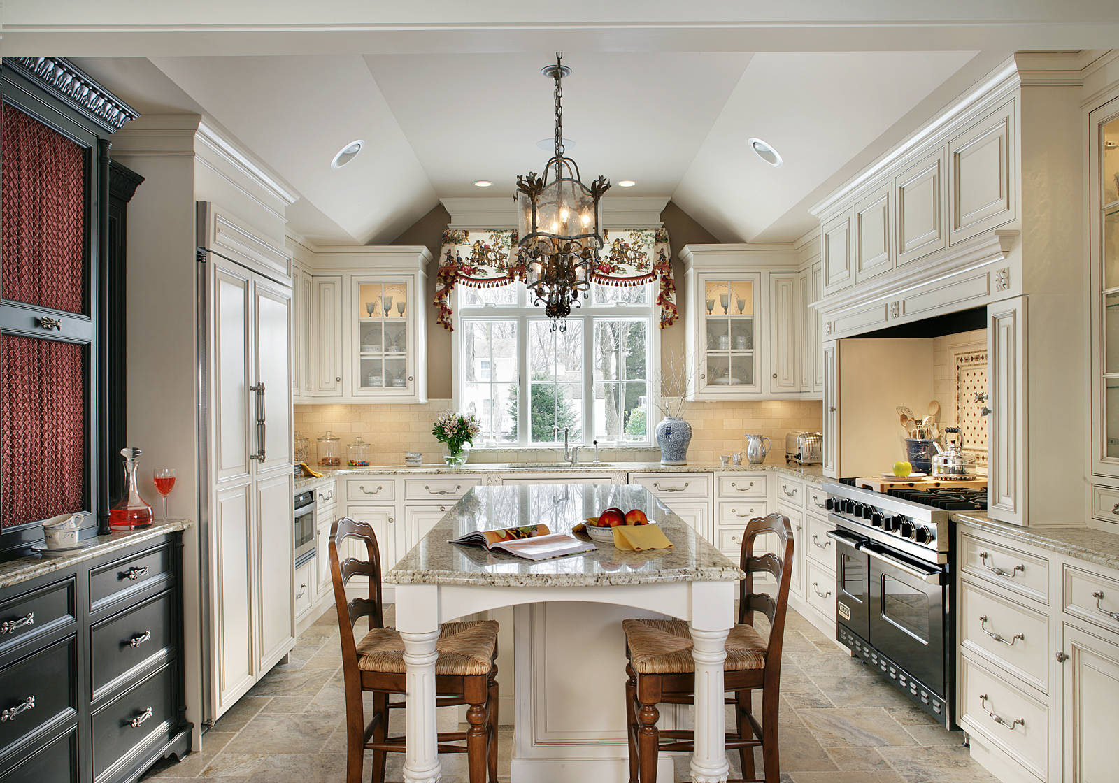 Tray Ceiling Paint Ideas Traditional Kitchen Glass Door Cabinets U Shaped Kitchen Island