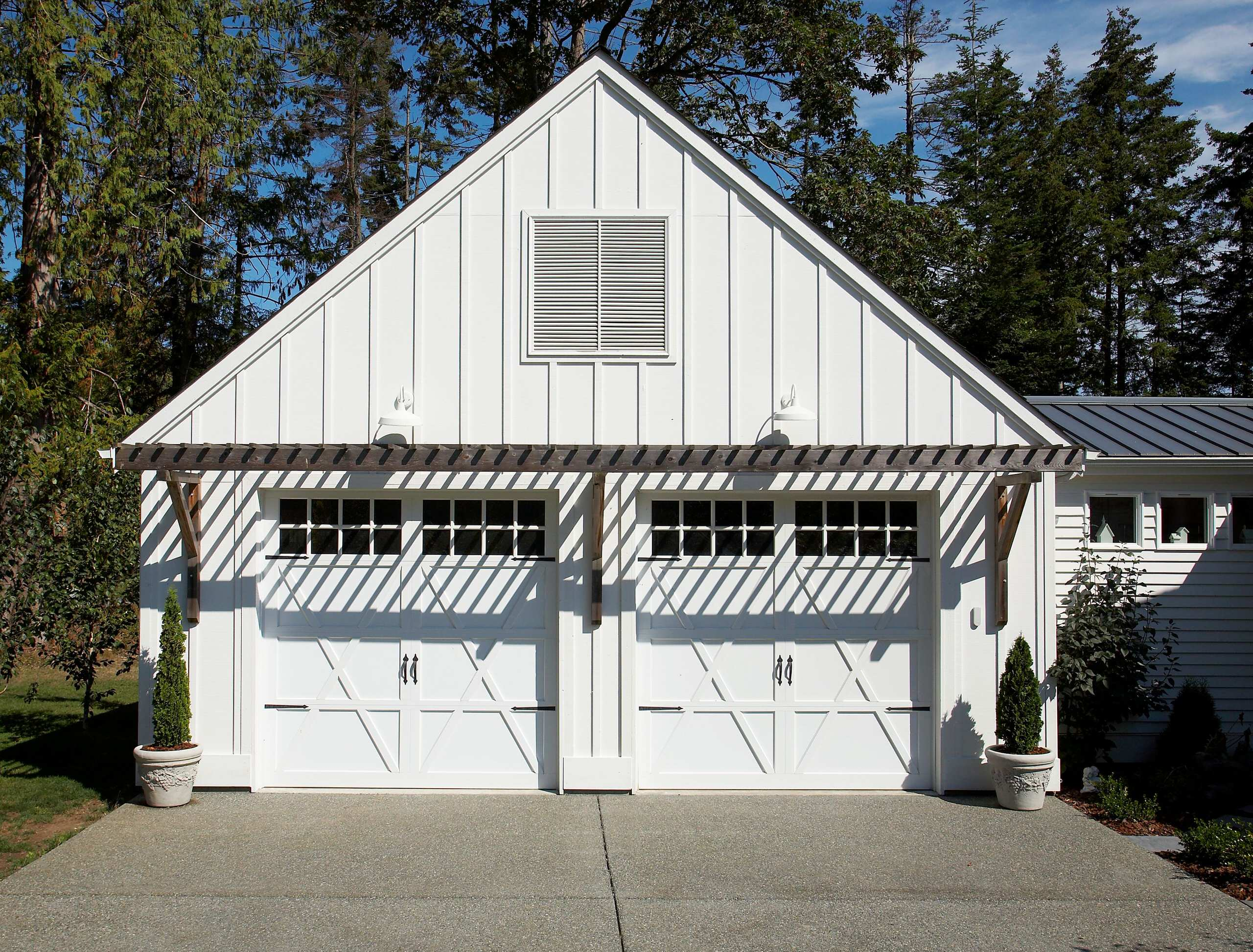2 Car Garage Dimensions Eclectic Garage Board and Batten Siding Carriage Doors