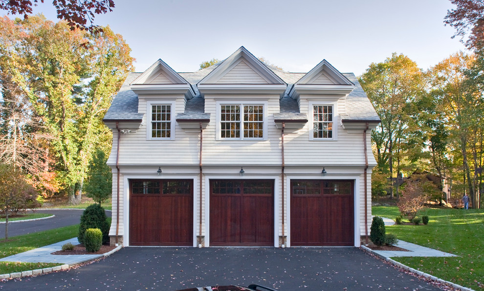 3 car garage dimensions Traditional Garage cedar siding mahogany garage doors detached garage