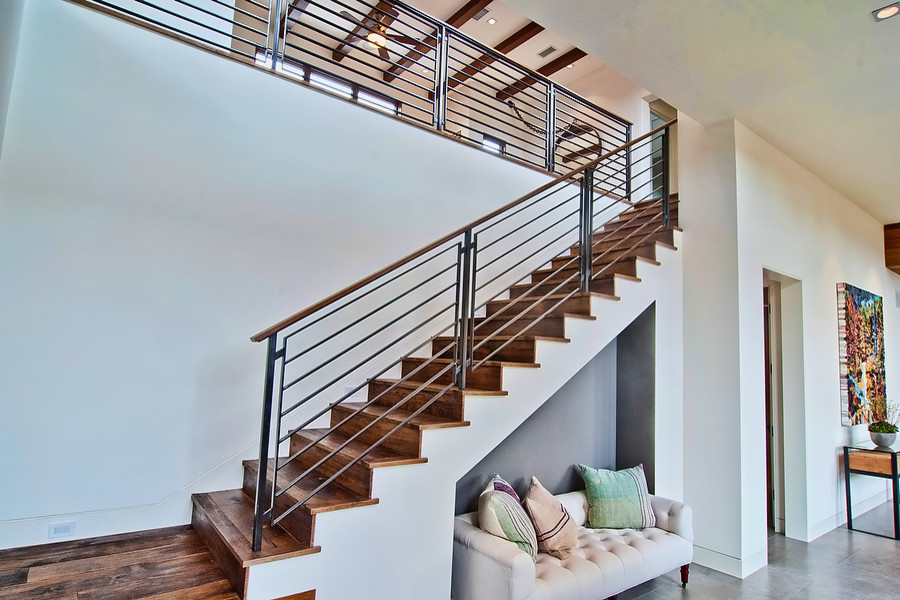 Los Angeles Architecture Firms Contemporary Staircase Iron Railing Wood Stairs