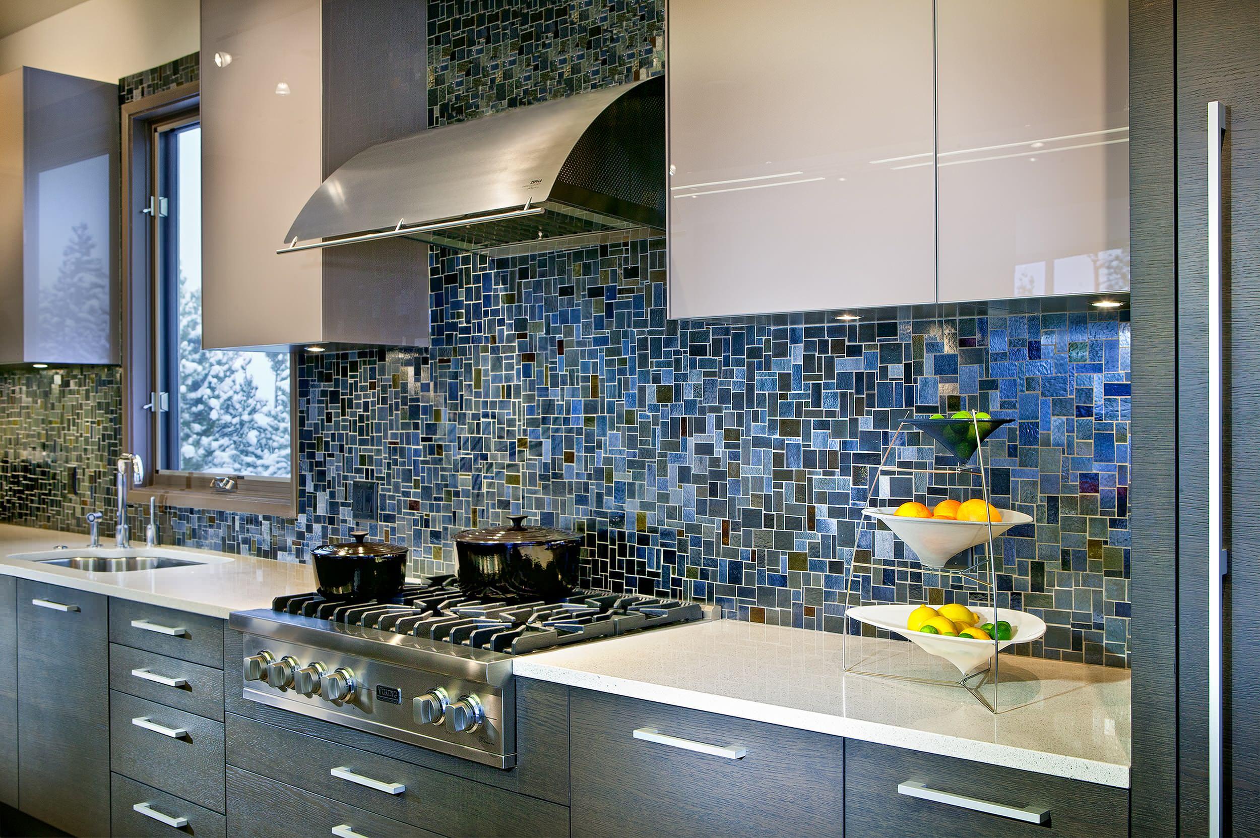 Gray Cabinets What Color Walls? Contemporary Kitchen  Backsplash Tiles Drawer Pulls Mosaic Tile Quartz Countertops
